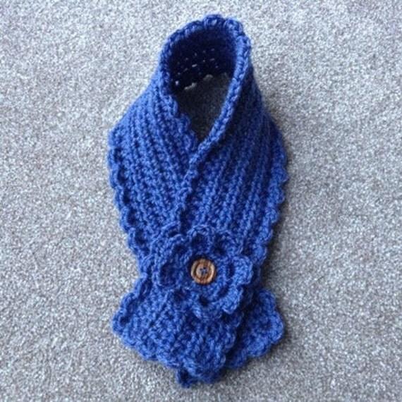 Crochet Pattern Short Scarf Neck Warmer Scarflette With