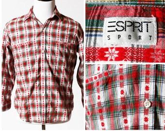 Vintage Men's Shirt Esprit Sport - 80s Retro Small S