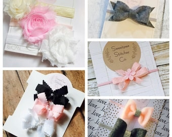 3 bows sent to you, every month!!! You send us what you like, and you get what you LOVE every month!