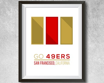 49ers wall art etsy for 49ers room decor
