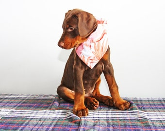 Bandanna for dogs - Hawaii in pink