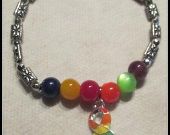 Gay Pride Stretch Bracelet
