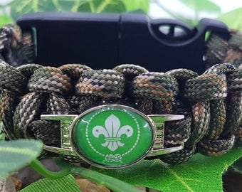 Scouts Badged Bracelet Tactical Edge - Hiking - Camping - Survival