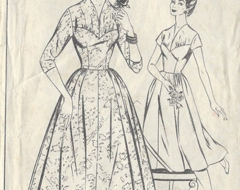 """1950s Vintage Sewing Pattern DRESS B38"""" (225) Woman's Realm R2"""