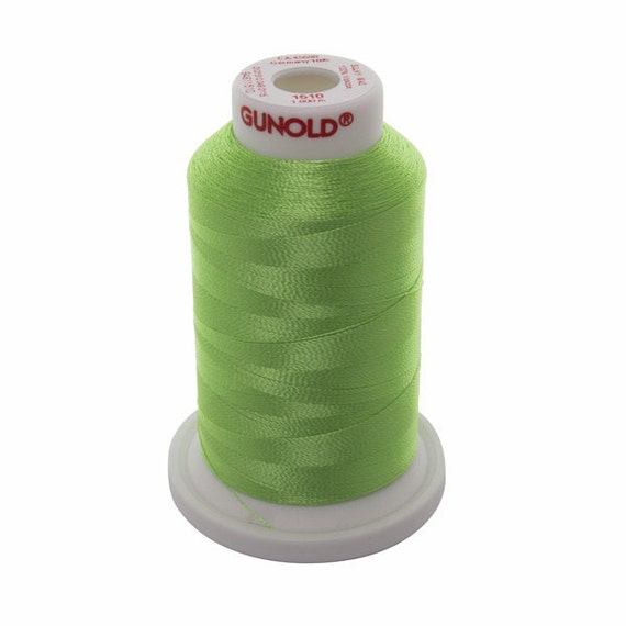 1510 Lime Green Gunold Thread - 40 WT SULKY RAYON Mini King Cones 1100 Yds - Machine Embroidery ...