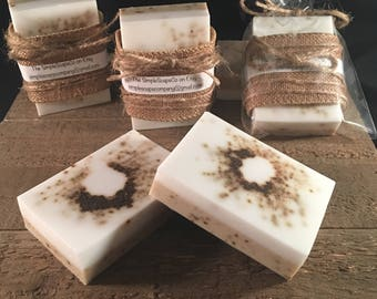 Coconut & Coffee exfoliate goats milk soap, Exfoliating  bar, best selling  soap