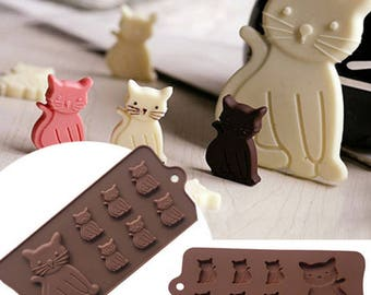 Cute Cat and Kitten Silicone Mold