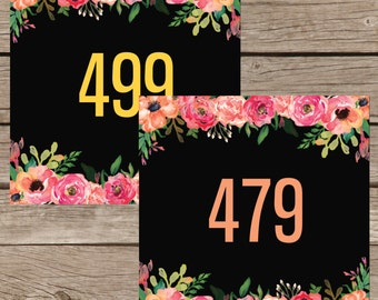 Hanger Numbers for Facebook , Mirrored Live Sale Tags Reversed , 1-500 Normal Mirrored Live Sales Digital File Instant Download LLR005