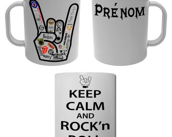 Mug Cup Keep Calm and rock'n ' roll with name personalized