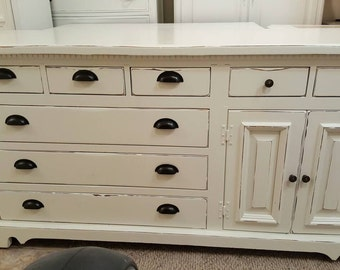 Beautiful Dresser Credenza Buffet distressed cottage chic
