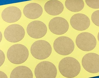 Tags/labels 75 pezzi/pieces 5 sheets set in kraft paper