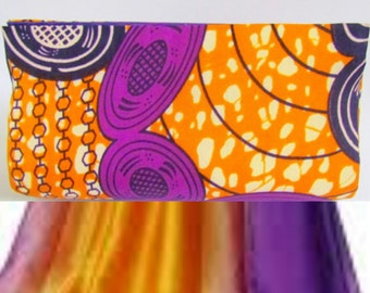 Purple & Yellow Purse, Ankara Clutch, African Print Bag, African Print Clutch, Unique Clutch, Summer Clutch, Colorful Clutch, Summer handbag
