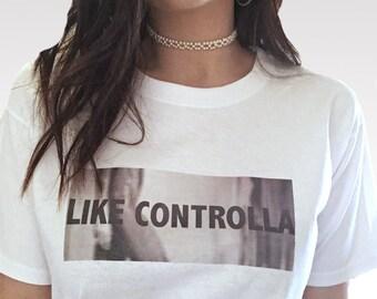 White 'LIKE CONTROLLA' T-shirt