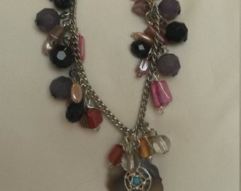 Multiple drop bead charm bracelet