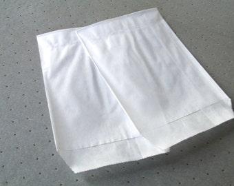 10 8 cm * 11 cm white Kraft gift bags pouches
