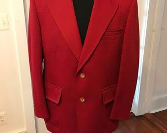 Vintage 1960's Palm Beach Red Blazer/Jacket