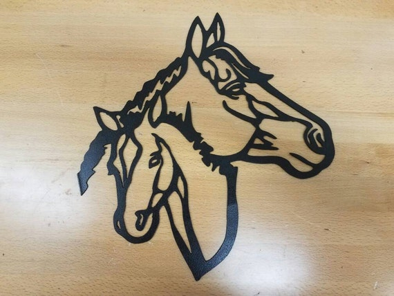 Horses Metal Wall Art Plasma Cut Decor