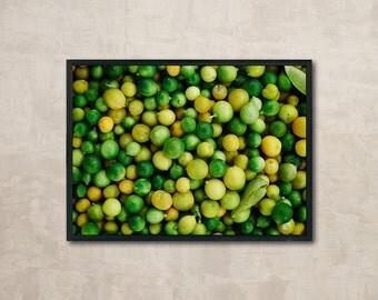 Fresh Lime, Food Printable, Lemon Background, Fruit Print, Wall Art Printable, Instant Download, Modern Art, Food Art, Digital Print