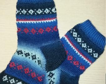 Handmade woman knitted socks, warm, very soft, wool, mohair, acrylic, 37-39 (US 6.5-7.5) size, вязаные носки