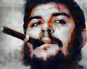Che Guevara Art Print - Marxist Revolutionary Oil Painting Poster LFF0024