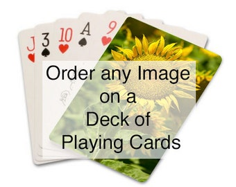 Order Any of My Images on a Deck of Cards, Custom Playing Cards, Pack of Cards, Photo Gift, Nature Landscape Photo, Home, Office Gift