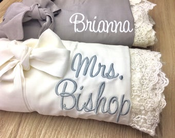 SALE! Bridesmaid gifts, Bridesmaid Robes, Lace robes, cotton robes, Getting ready outfits, Wedding Robes, Bridal robes, gifts for bride
