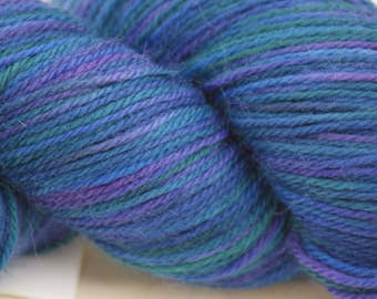 "Wool/Nylon Sock Yarn Hand-painted ""Persephone"""