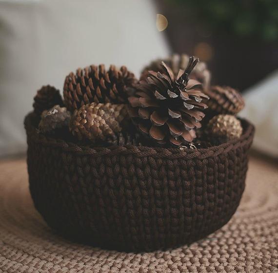 Crochet basket, storage basket, round basket, gift basket, toy storage, toy basket, home storage, home decor, housewarming gift
