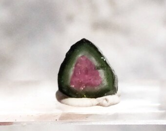 3.75 ct watermelon tourmaline slice from Kunar,Afghanistan E29