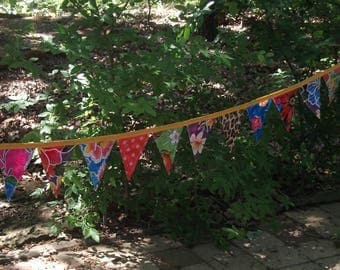 Vintage Oilcloth Bunting