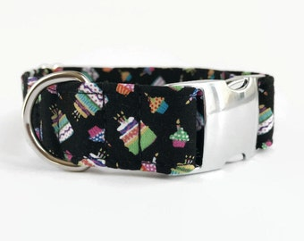 Buckle/Snap Dog Collar Happy Birthday // Gotcha Day // Dog Lover Gift // Dog Accessories