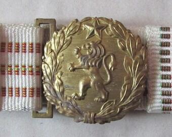 Rare Vintage Bulgaria Army Military Officer parade belt