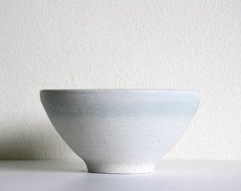 Ceramic Donburi Bowl - White and light green