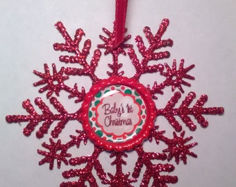 Baby's 1st Christmas Ornament, Baby's first Christmas decor.