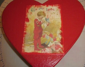 Red Heart Valentine Box