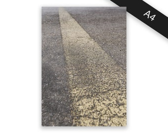 Road marking - art print/photo print A4