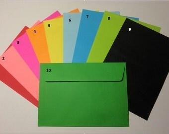 Coloured envelopes