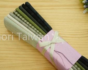 Precut fabric (Green   Fat quarters   55 cmx 45 cm   8 pieces  )