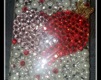 Swarovski crystal iphone 5/5s broken hearts phone case