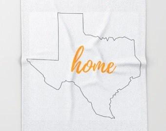 Texas Blanket Throw, Fleece Blanket for Baby, Custom Gifts For Men, Soft Blanket, Throw Blanket, State Home Decor, College Graduation