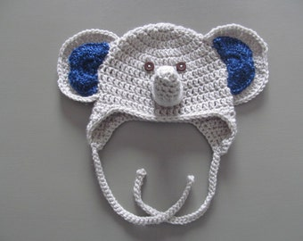 Crocheted Elephant baby hat