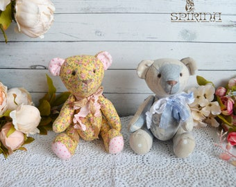 Bear - Stuffed Bear - Valentines Day Gift - Stuffed Bear- Memory soft toy - Memory Bear- Teddy bear soft