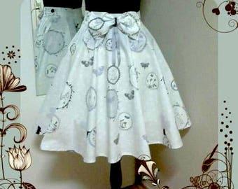 Lolita style circle skirt. With hairbow. Kawaii, harajuku, fairy kei