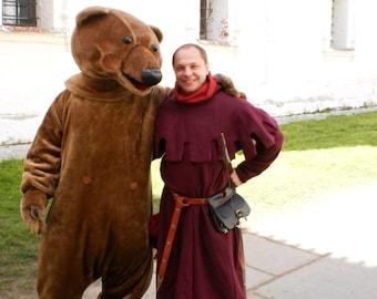 Medieval Men's hood(13-14c Europe)/Средневековый шаперон/худ (13-14вв, Европа)