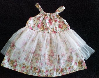 Baby girls Party dress / Floral dress / Girls clothes / Special Occasion / Tulle / dress / party dress / birthday dress / formal girls dress