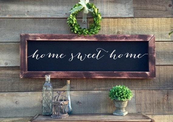 Home Sweet Home Chalkboard Rustic Home Decor