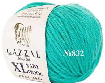 Gazzal BABY WOOL XL Lana Merino wool blend merino yarn color choice wool yarn baby wool warm yarn gazzal wool soft yarn baby yarn