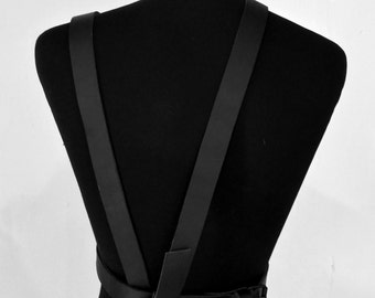 Leather Waist Belt  with suspenders - Incognito Design New Year Collection!