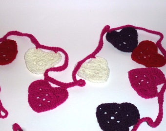 Handmade Crocheted Heart Bunting