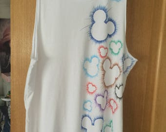 Mickey Mouse head T shirt
